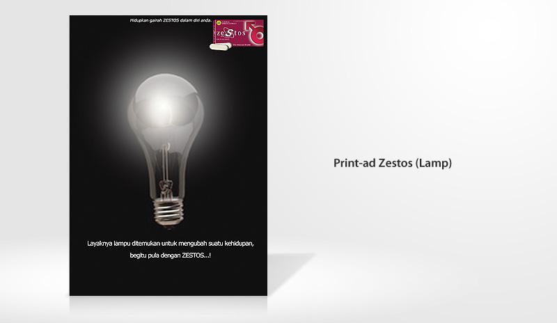 Print Ad Zestos Lamp