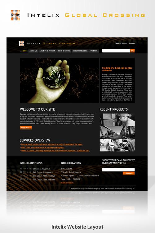 Intelix Website Layout