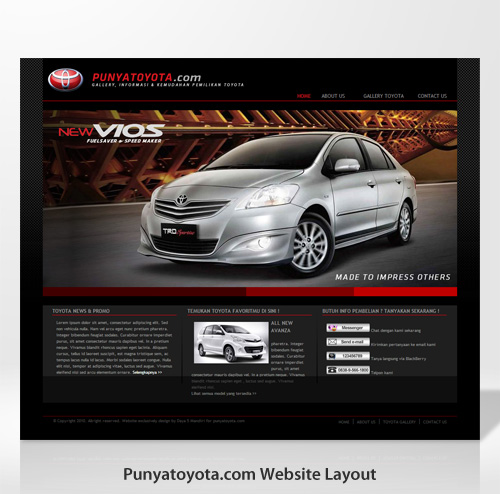 Punyatoyota Website Design
