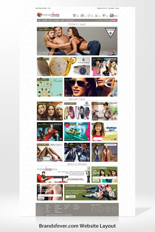 Brandsfever Website Layout